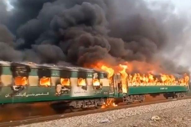 Train Fire in Pakistan, 65 Dead : Police