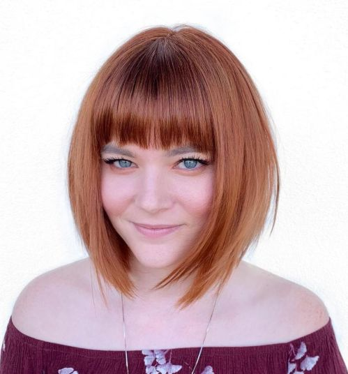 shoulder length medium hairstyles for plus size round faces