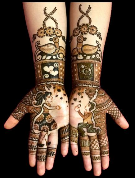 mehndi Desing for full hands bridal
