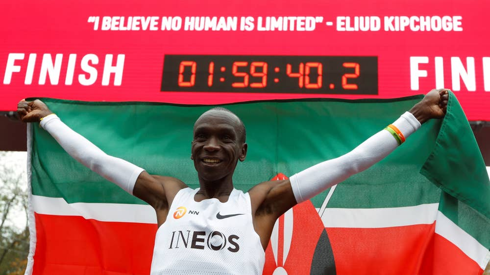 Breaking 2 Hour Marathon Barrier (WORLD RECORD BY ELIUD KIPCHOGE)