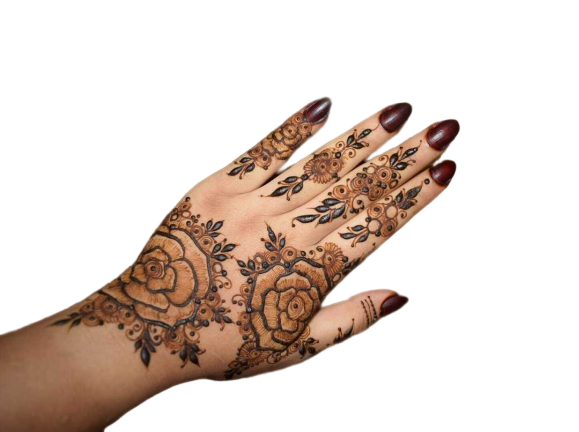 Rose Pattern Arabic Mehndi Desing for Eid