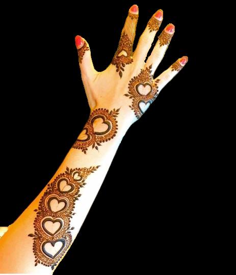 Heart Pattern Arabic Mehndi Desing for Eid