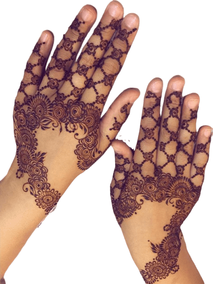 """""""Dotted pattern design for back hand"""