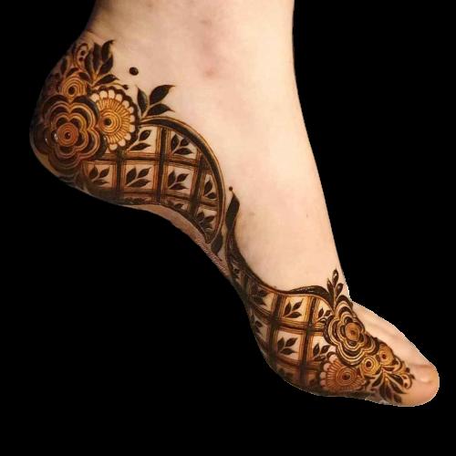 karwa chauth design for feet