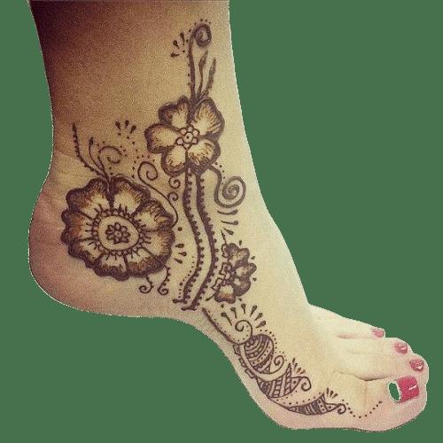 Simple Flower Designs for feet