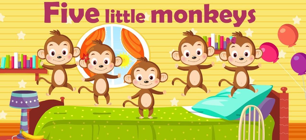 """Nursery Rhymes - Kids Songs Baby songs """"Five Little Monkeys""""- Kids Nursery Rhymes In English"""