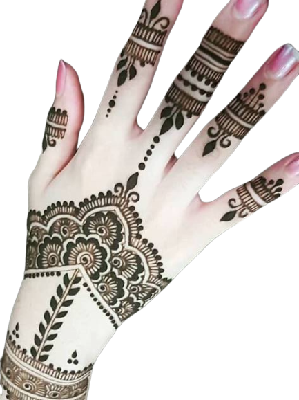 Simple Eid Designs for Back Hands