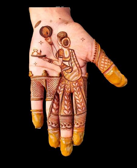 Beautiful design for karwa chauth
