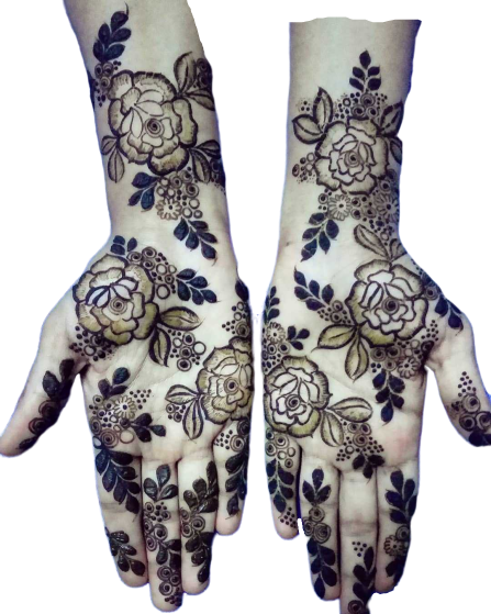 rose pattern for hands