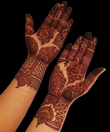 full hands karwa chauth design
