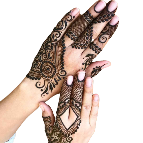 karwa chauth design for fingers and hand