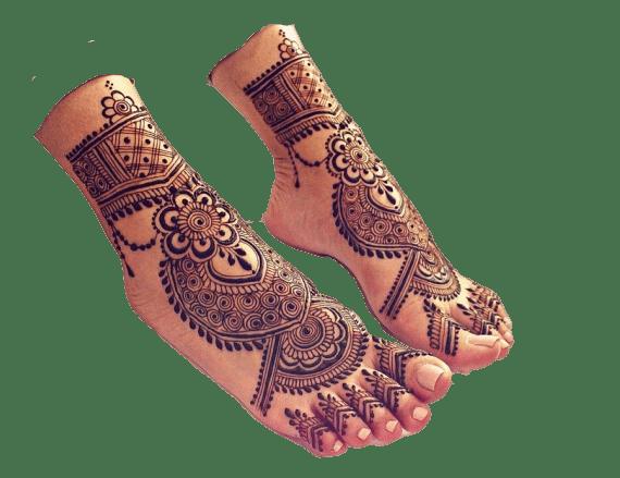 bridal mehndi design for feet
