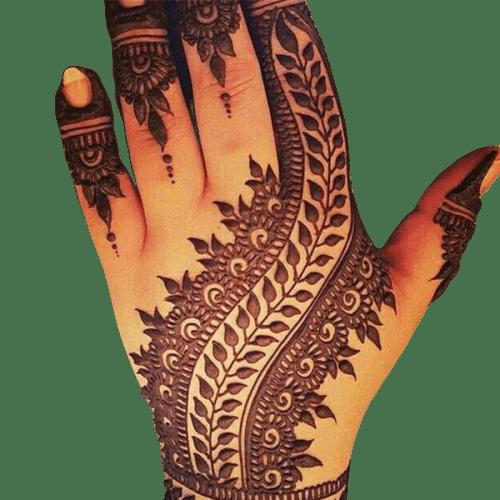 arabic henna design for hand