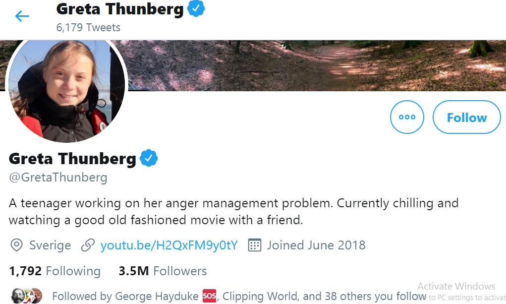 Trump's Twitter War against Greta Thunberg