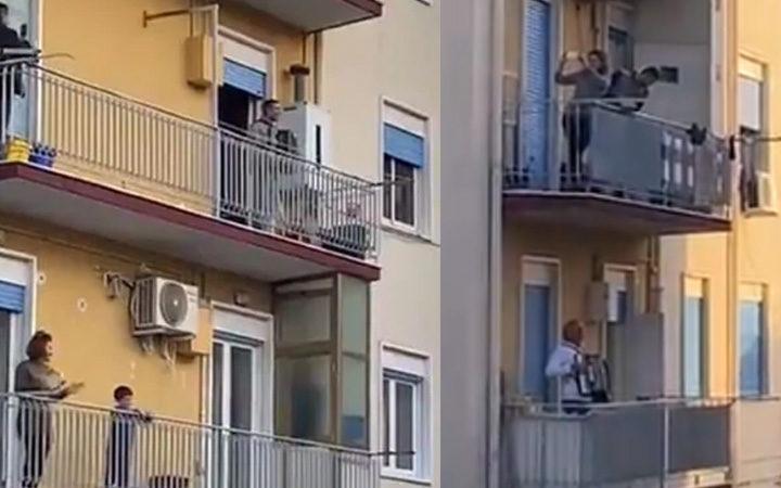 Italy Coronavirus Lockdown: People Sings Out From Balconies