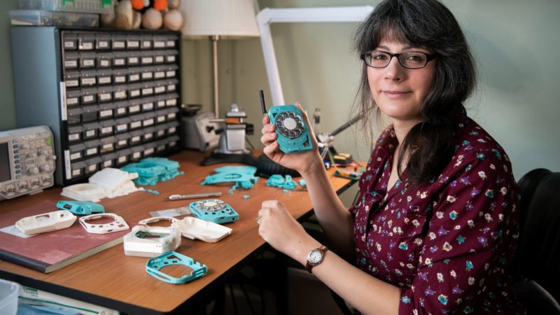 Justine Haupt, A Space Engineer  Invented Anti-Smartphone With Rotary Dial
