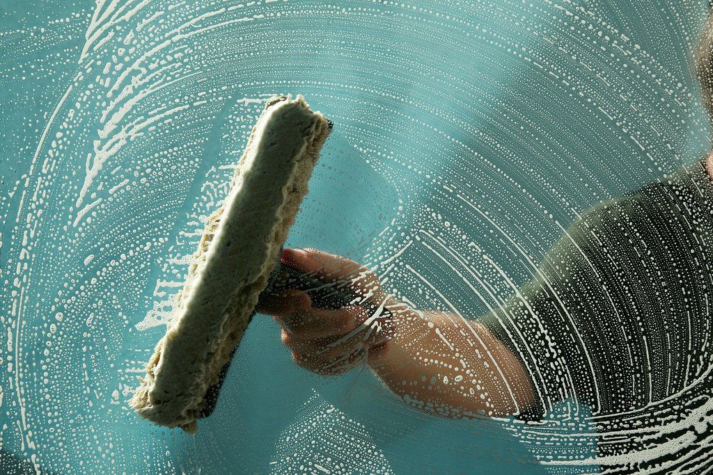 Using Antibacterial Cleaners for glass surface cleaning
