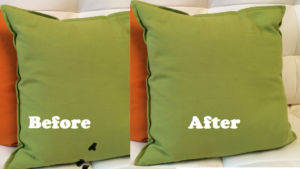 Removing mascara stains from upholstery