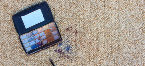 makeup split on carpet