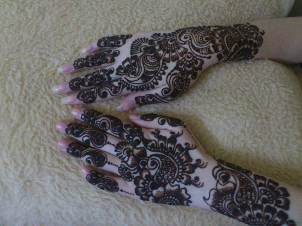 full hand paisley arabic design