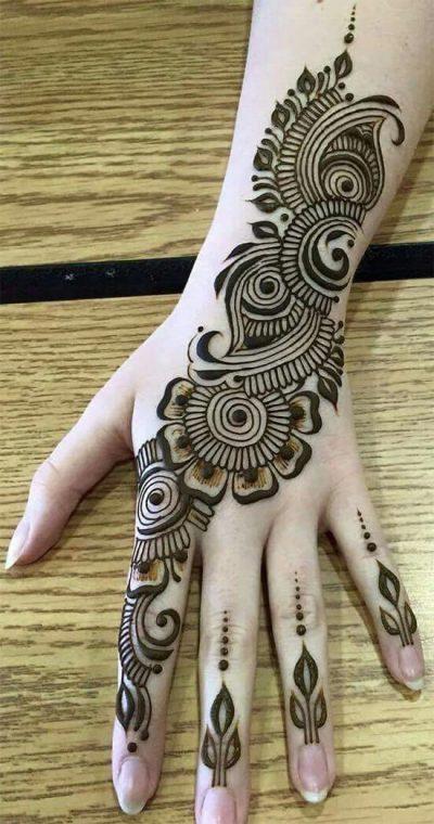 arabic trail mehndi design