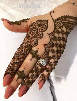 dual pattern Arabic mending design