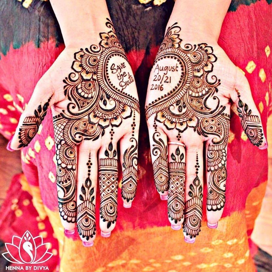 customised bridal mehndi design
